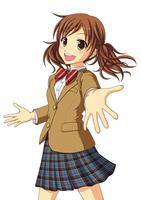 手を差し伸べて友達を呼んでいる女子生徒 10438000060| 写真素材・ストックフォト・画像・イラスト素材|アマナイメージズ