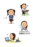 女の子の成長 中学生から社会人 10440000010| 写真素材・ストックフォト・画像・イラスト素材|アマナイメージズ