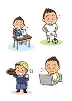 男の子の成長 中学生から社会人 10440000012| 写真素材・ストックフォト・画像・イラスト素材|アマナイメージズ