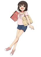 ノートを抱えて勉強をしに行く女の子