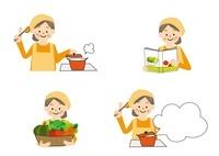 食事療法 料理する中年女性 10447000018| 写真素材・ストックフォト・画像・イラスト素材|アマナイメージズ