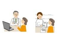 医師と薬剤師と中年女性