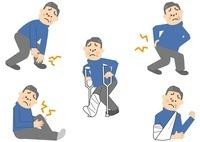 関節痛 腰痛 骨折 中年男性 10447000026| 写真素材・ストックフォト・画像・イラスト素材|アマナイメージズ
