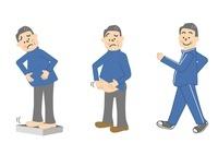 メタボリック 運動療法 中年男性 10447000030| 写真素材・ストックフォト・画像・イラスト素材|アマナイメージズ