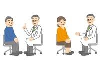 医師と中年男性と女性
