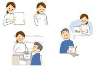 薬剤師と中年男性