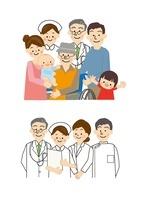 医師 看護師 家族 10447000049| 写真素材・ストックフォト・画像・イラスト素材|アマナイメージズ