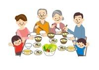 食事 家族 10447000071| 写真素材・ストックフォト・画像・イラスト素材|アマナイメージズ