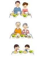 食事 家族 10447000074| 写真素材・ストックフォト・画像・イラスト素材|アマナイメージズ