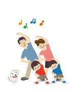運動 ラジオ体操 家族