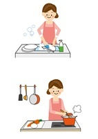家事 食器洗い 料理