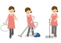 家事 掃除 10447000103| 写真素材・ストックフォト・画像・イラスト素材|アマナイメージズ