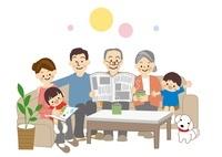 家族団欒 10447000110| 写真素材・ストックフォト・画像・イラスト素材|アマナイメージズ
