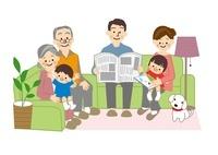 家族団欒 10447000111| 写真素材・ストックフォト・画像・イラスト素材|アマナイメージズ