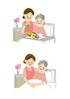 介護高齢者介護士 10447000122| 写真素材・ストックフォト・画像・イラスト素材|アマナイメージズ