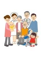 介護家族 10447000126| 写真素材・ストックフォト・画像・イラスト素材|アマナイメージズ
