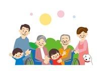介護高齢者家族 10447000129| 写真素材・ストックフォト・画像・イラスト素材|アマナイメージズ