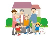 介護高齢者家族 10447000143| 写真素材・ストックフォト・画像・イラスト素材|アマナイメージズ