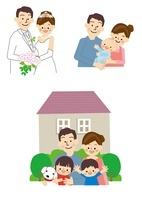 結婚 出産 マイホーム 10447000154| 写真素材・ストックフォト・画像・イラスト素材|アマナイメージズ