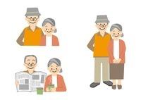 高齢者 おじいさんとおばあさん