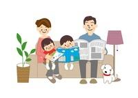 家族団欒 10447000165| 写真素材・ストックフォト・画像・イラスト素材|アマナイメージズ