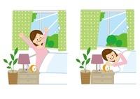 女性 起床 10447000175| 写真素材・ストックフォト・画像・イラスト素材|アマナイメージズ