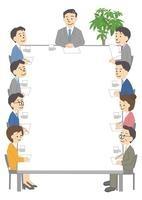 ビジネス 人物 会議フレーム