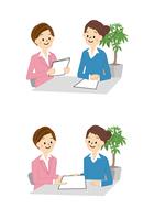 ビジネス 商談 女性 OL 事務