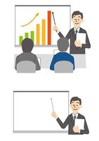 ビジネス 会議 プレゼン 男性