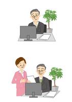 ビジネス パソコン 男性 女性 10447000276| 写真素材・ストックフォト・画像・イラスト素材|アマナイメージズ