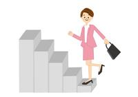 階段をかけあがる女性 10447000278| 写真素材・ストックフォト・画像・イラスト素材|アマナイメージズ