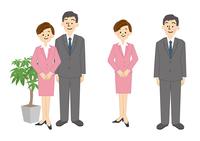 ビジネス 男性 女性 OL 受付 10447000285| 写真素材・ストックフォト・画像・イラスト素材|アマナイメージズ