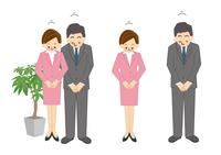 ビジネス 男性 女性 お辞儀 OL 事務 10447000286| 写真素材・ストックフォト・画像・イラスト素材|アマナイメージズ