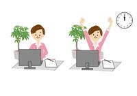 OL パソコン 事務 女性