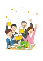 宴会 うちあげ 男性と女性 10447000295| 写真素材・ストックフォト・画像・イラスト素材|アマナイメージズ