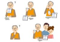 医療 高齢者 痴ほう 薬の飲み忘れ 10447000315| 写真素材・ストックフォト・画像・イラスト素材|アマナイメージズ