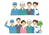 建設工事関係 男性作業員と会社員