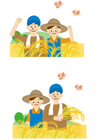 農業 男性と女性 10447000322| 写真素材・ストックフォト・画像・イラスト素材|アマナイメージズ