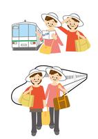 電車と新幹線で旅行する女性 10447000442| 写真素材・ストックフォト・画像・イラスト素材|アマナイメージズ