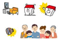 家と家族 地震保険 10447000450| 写真素材・ストックフォト・画像・イラスト素材|アマナイメージズ