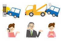 車と事故 自動車保険 10447000485| 写真素材・ストックフォト・画像・イラスト素材|アマナイメージズ