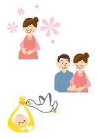 妊婦・赤ちゃん・こうのとり 10447000495| 写真素材・ストックフォト・画像・イラスト素材|アマナイメージズ