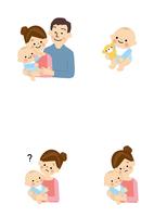 若い夫婦と赤ちゃん 10447000499| 写真素材・ストックフォト・画像・イラスト素材|アマナイメージズ