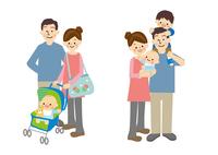 家族と成長 10447000507| 写真素材・ストックフォト・画像・イラスト素材|アマナイメージズ