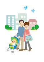 夫婦と赤ちゃん 10447000509| 写真素材・ストックフォト・画像・イラスト素材|アマナイメージズ
