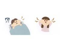 不眠の男性と耳鳴りのする女性