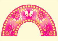 蛇と花柄 10448000034| 写真素材・ストックフォト・画像・イラスト素材|アマナイメージズ
