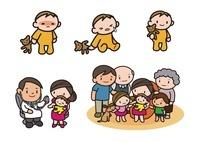 風邪 怪我 診察を受ける赤ちゃん 家族の集合 10453000032| 写真素材・ストックフォト・画像・イラスト素材|アマナイメージズ