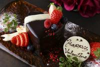 バレンタインケーキとコース料理