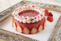 苺のゼリーケーキ